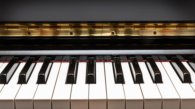 Piano Keys Closeup. Background closebup stock photos