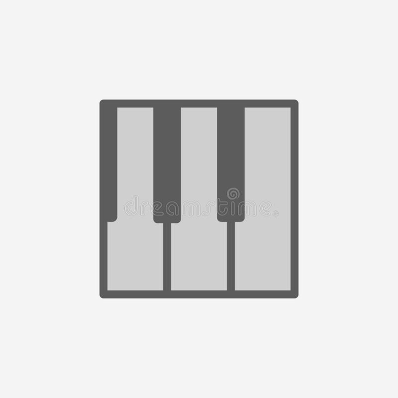 Piano keys field outline icon. Element of 2 color simple icon. Thin line icon for website design and development, app development. Premium icon on light vector illustration