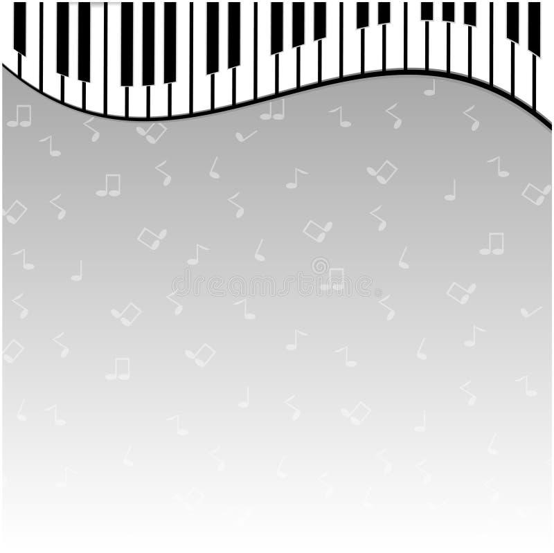 Piano keys. On a gray background vector illustration