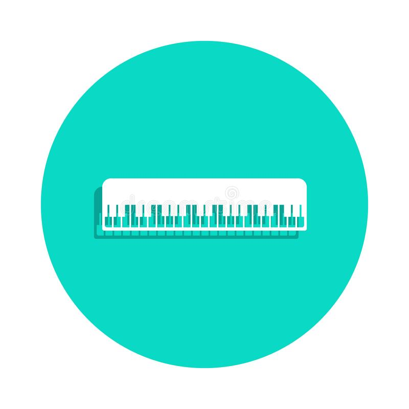 Piano keys icon in badge style. One of Music Instruments collection icon can be used for UI, UX. On white background stock illustration