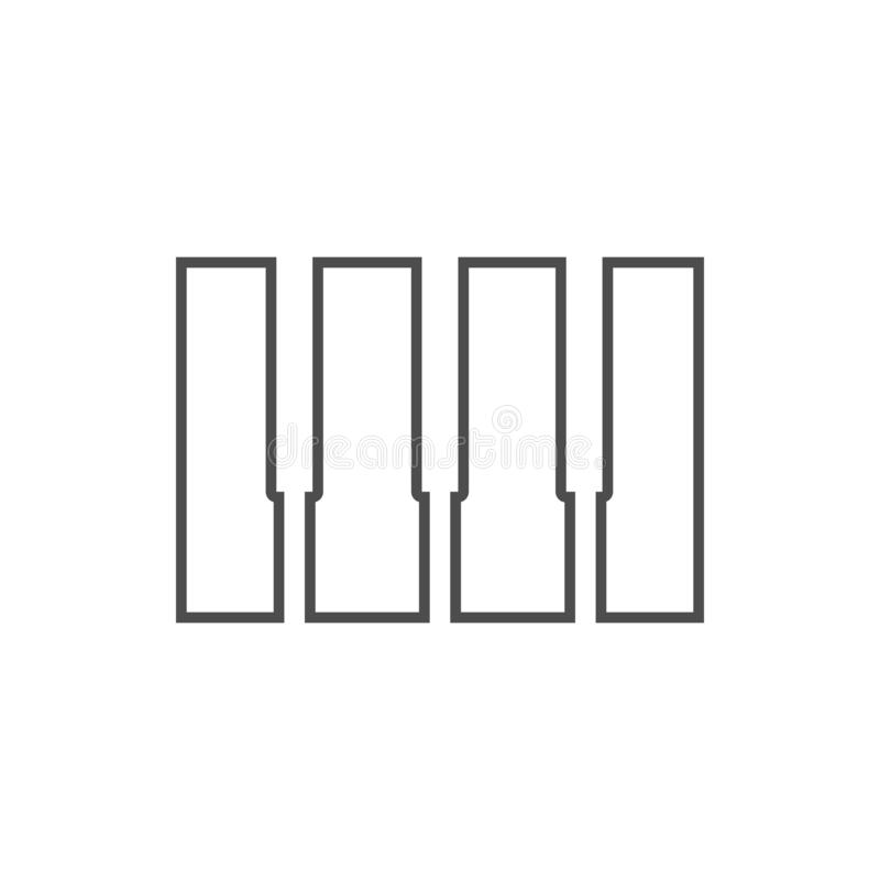 Piano keys icon. Element of cyber security for mobile concept and web apps icon. Thin line icon for website design and development. App development on white stock illustration