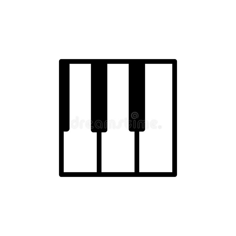 Piano keys icon. Element of minimalistic icons for mobile concept and web apps. Thin line icon for website design and development,. App development on white stock illustration