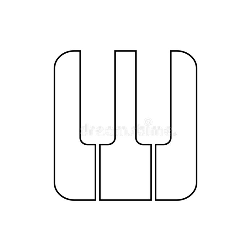 Piano keys icon. Element of web for mobile concept and web apps icon. Thin line icon for website design and development, app. Development on white background stock illustration