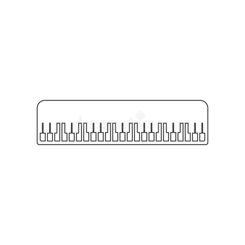 Piano keys icon. Element of zoo for mobile concept and web apps icon. Outline, thin line icon for website design and development,. App development on white stock illustration