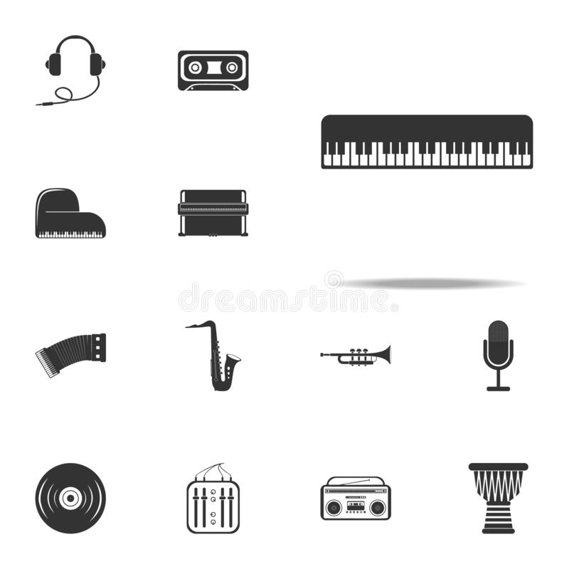 Piano keys icon. Music Instruments icons universal set for web and mobile. On white background vector illustration