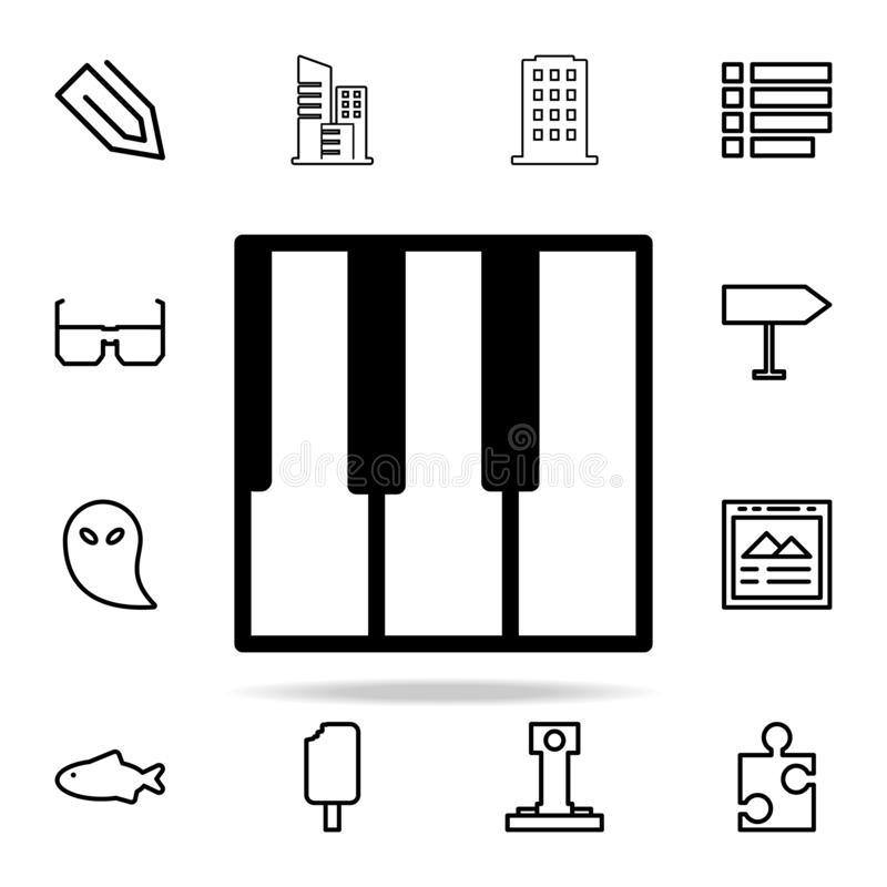Piano keys icon. web icons universal set for web and mobile. On white background royalty free illustration
