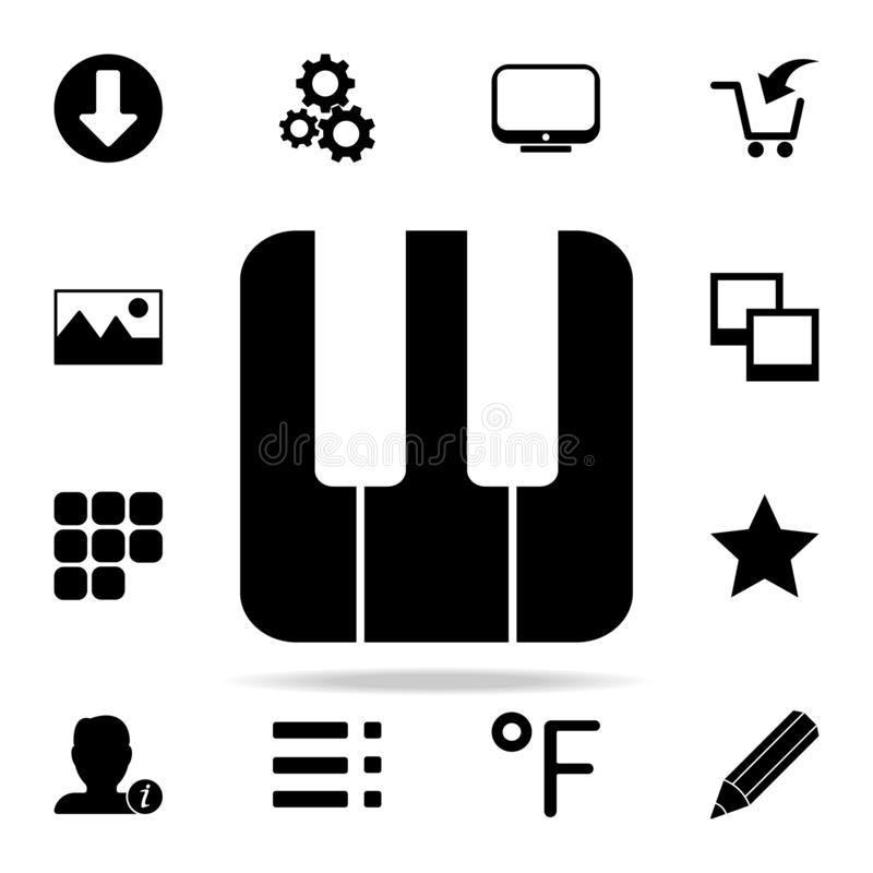 Piano keys icon. web icons universal set for web and mobile. On white background vector illustration