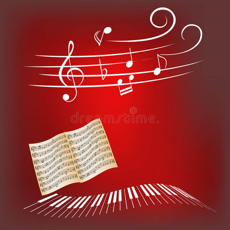 Download Piano Keys And Music Notes Royalty Free Stock Images - Image: 15711169