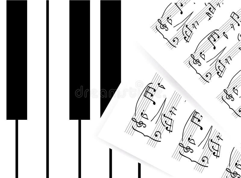 Piano Keys With Note Stock Photo