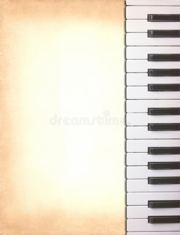 Piano keys on old paper royalty free stock images