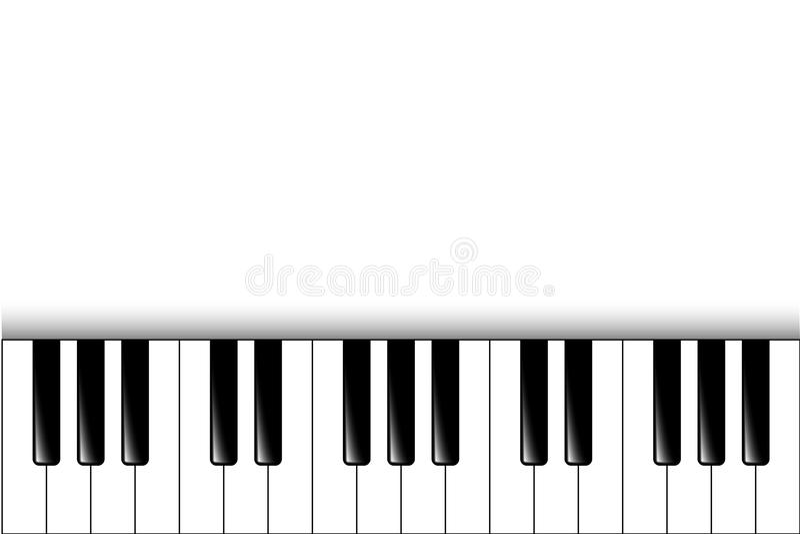 Piano keys. Vector background vector illustration