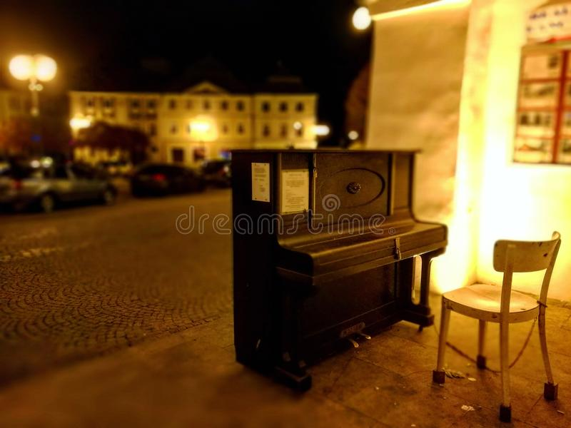 Piano in Kutna Hora stock fotografie