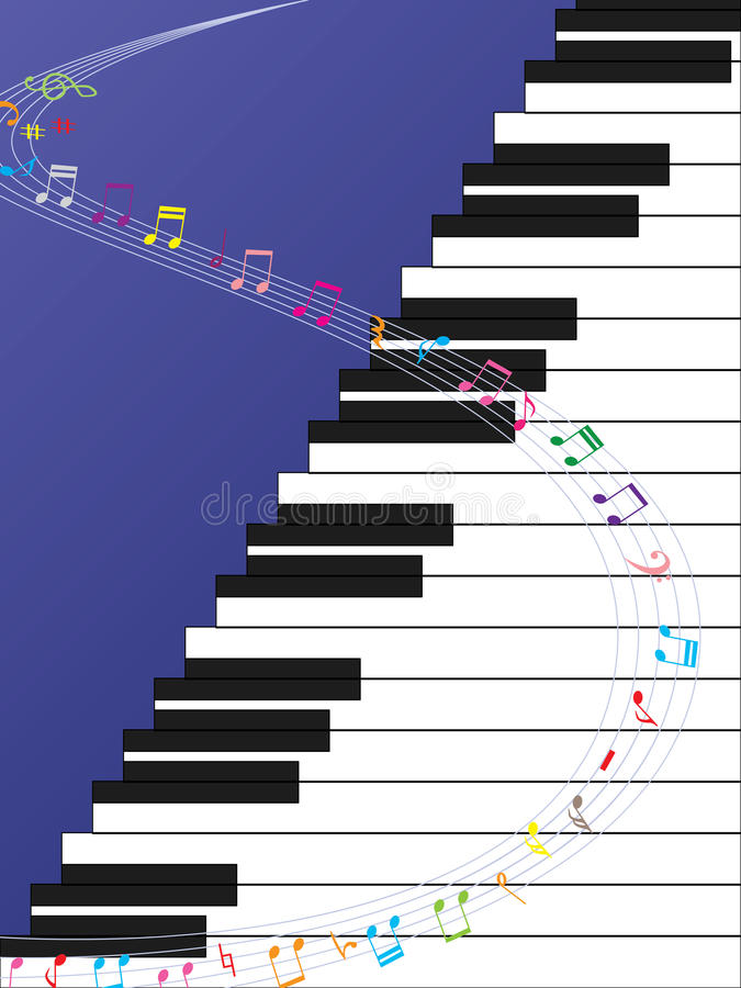 Piano Ladder Music Curve. Illustration of piano ladder with curve music. --- This .eps file info Version: Illustrator 8 EPS Document: 9 * 12 Inches (Width * vector illustration