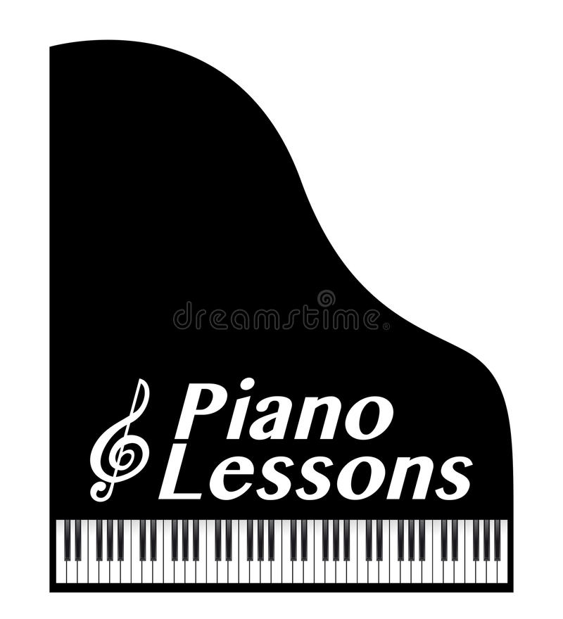 Piano lessons royalty free illustration