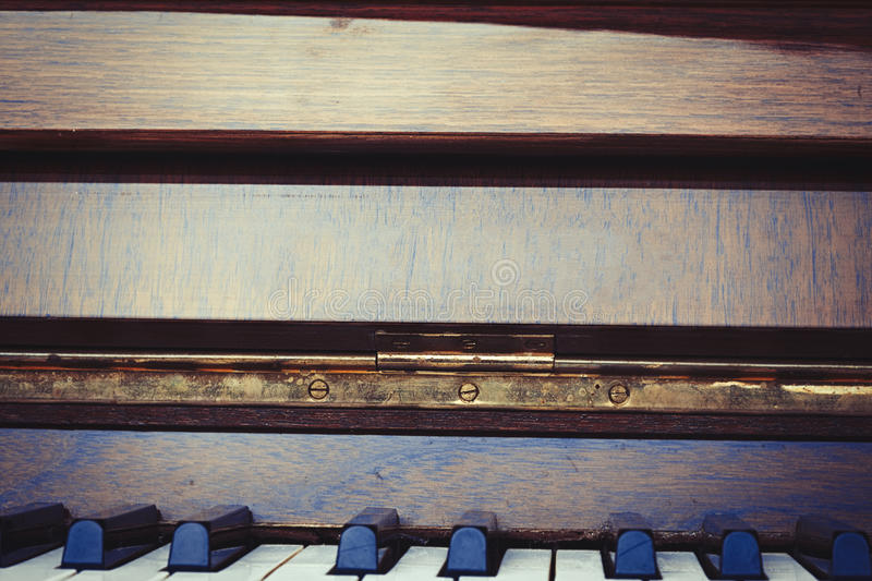 Piano maintenance and repair detail stock photography