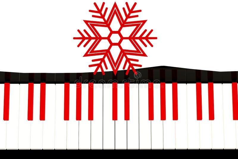 Piano med julbegrepp royaltyfri fotografi