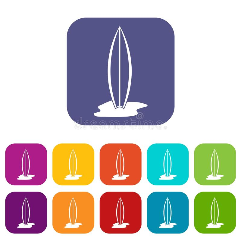 Piano messo icone del bordo di spuma illustrazione di stock