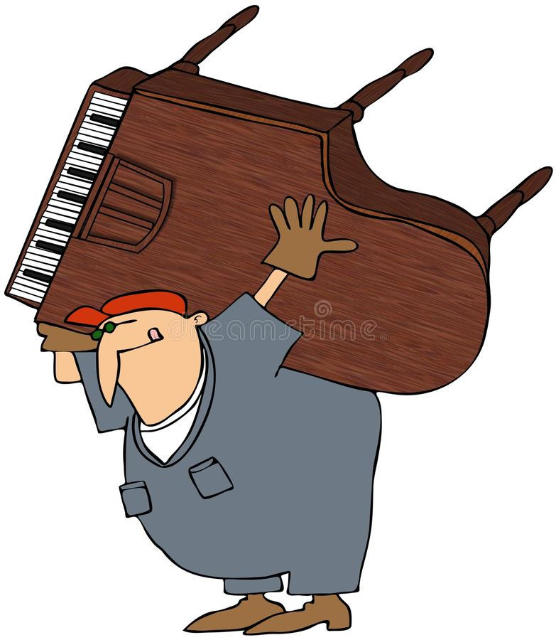 Piano Mover stock illustration