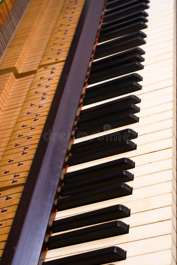 Piano music stock image