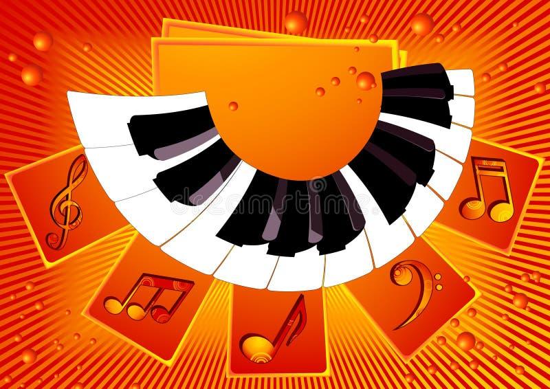 Piano_music_background ilustração do vetor