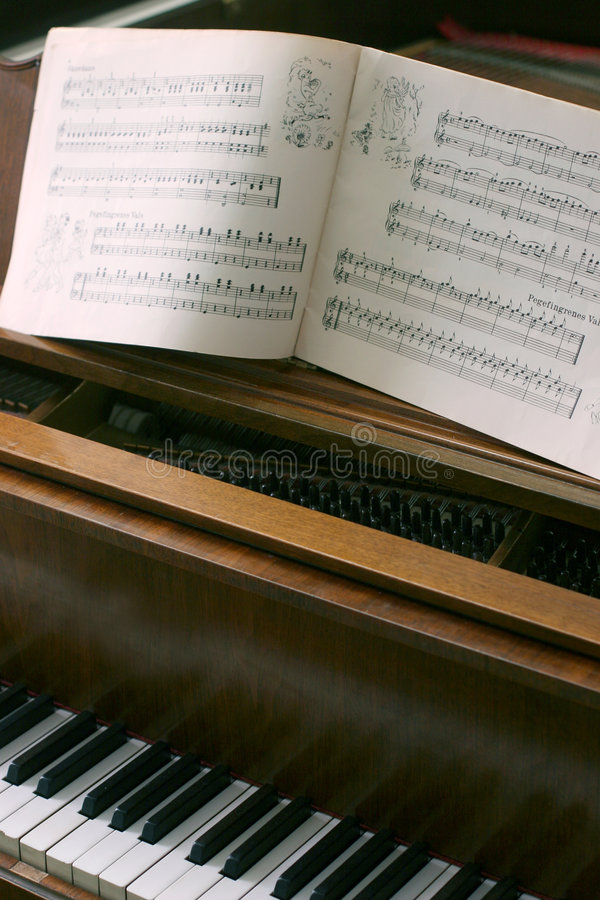 Download Piano with music notes stock photo. Image of open, classical - 487582