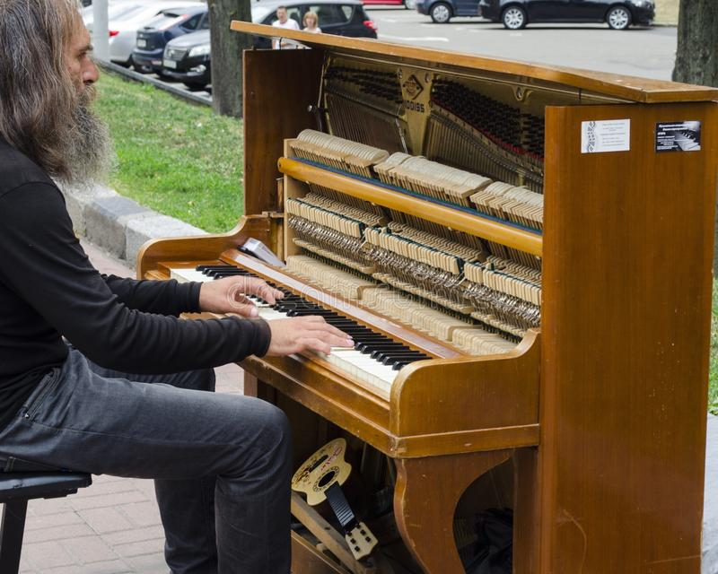 Piano, Musical Instrument, Keyboard, Player Piano stock photo