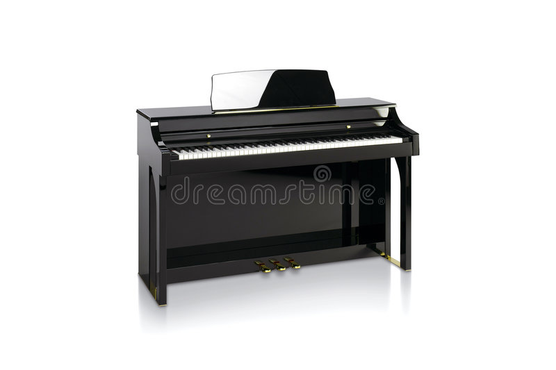 Piano nero fotografie stock