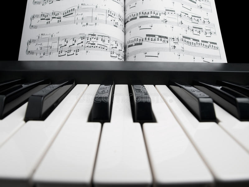 Download Piano With The Note Sheets Stock Photo - Image: 13743240