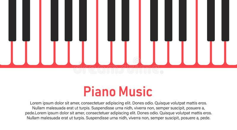Piano op een gele achtergrond vector illustratie
