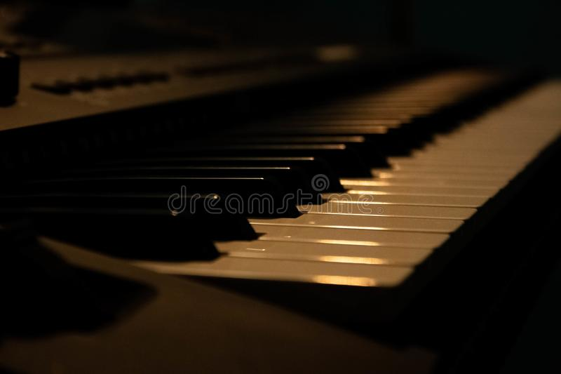 Piano perspective stock images