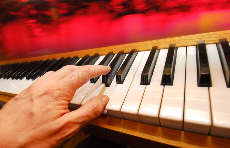 Piano player royalty free stock image