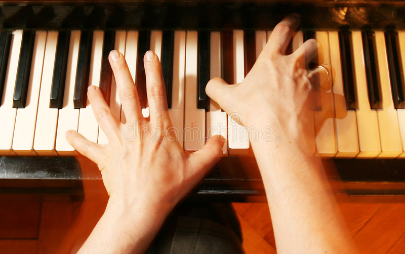 Piano player stock photos