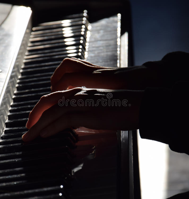 Download Piano Player Stock Photo - Image: 83722766