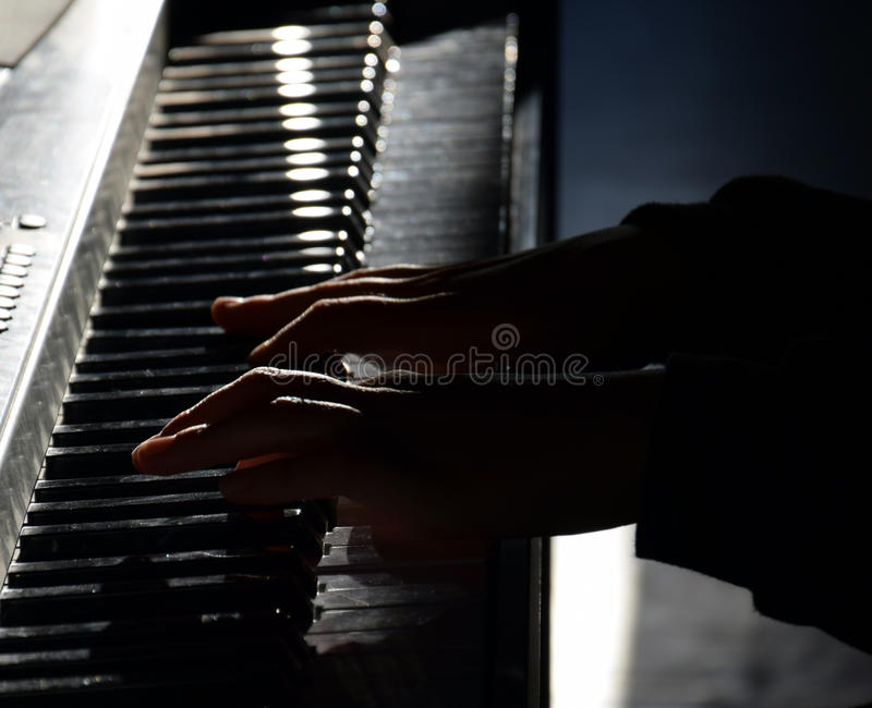 Download Piano Player Stock Photo - Image: 83722816