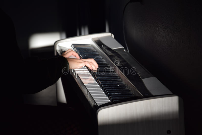 Download Piano Player Stock Photo - Image: 83722914