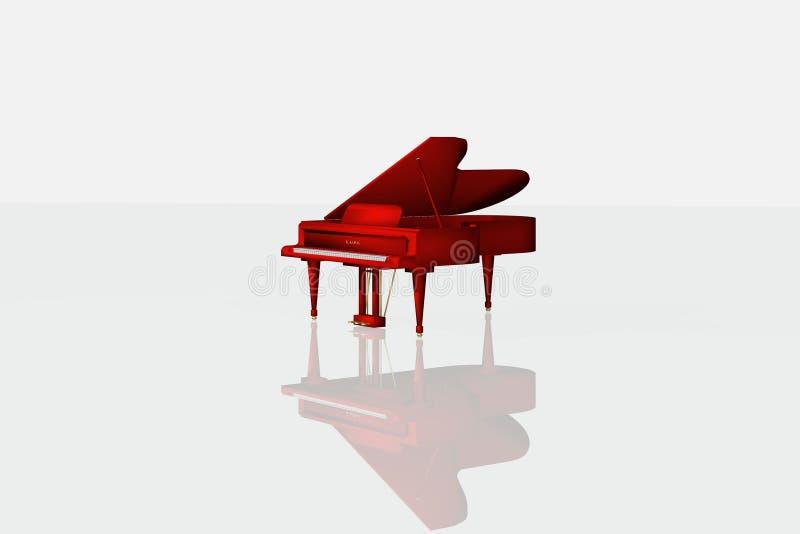 Piano rojo stock de ilustración