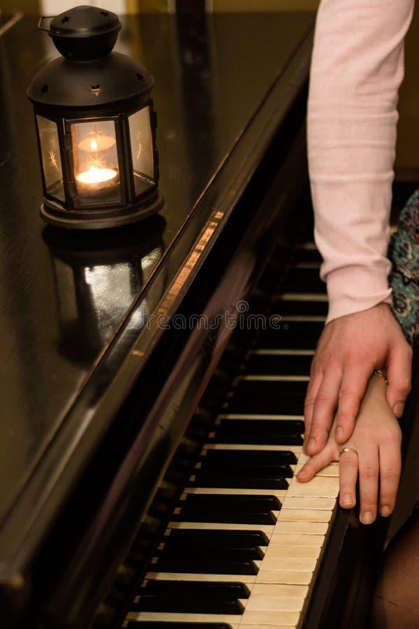 Piano romantico fotografie stock libere da diritti