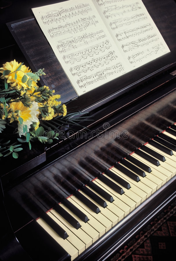 Download Piano with sheet music stock photo. Image of ivories, play - 5560804
