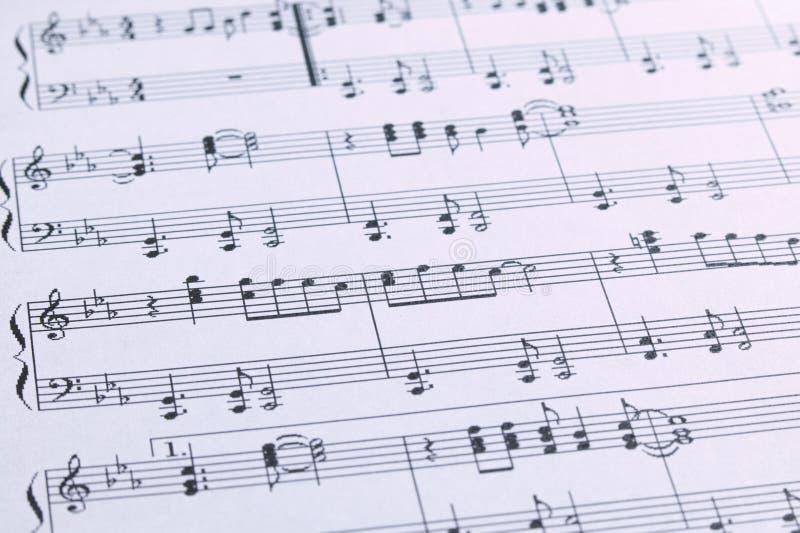 Piano Sheet Music stock photography