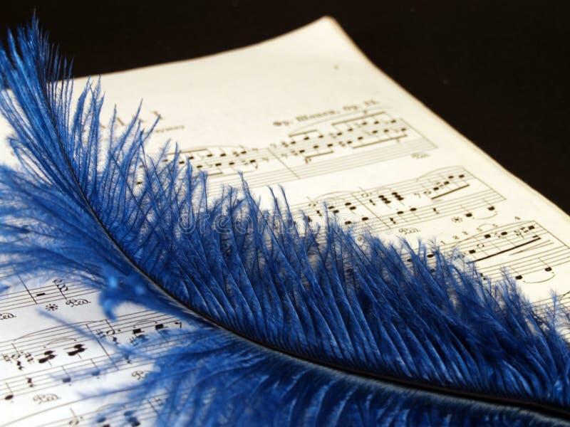 Piano sheets stock image