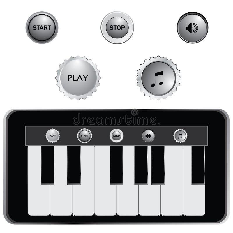 piano sleutels stock illustratie