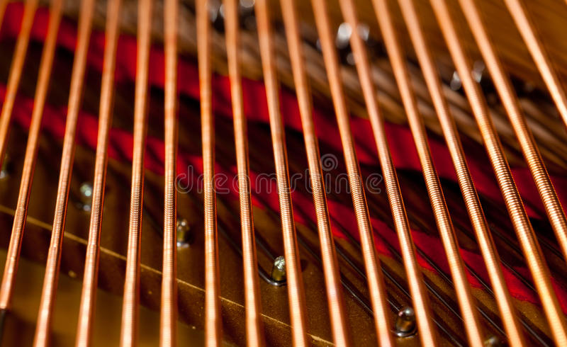 Piano strings in macro royalty free stock images