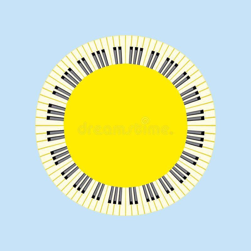 Piano sun concept. vector illustration