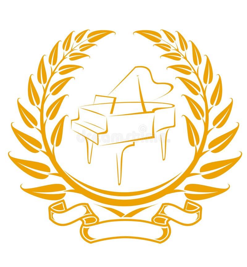 Piano symbol stock photo