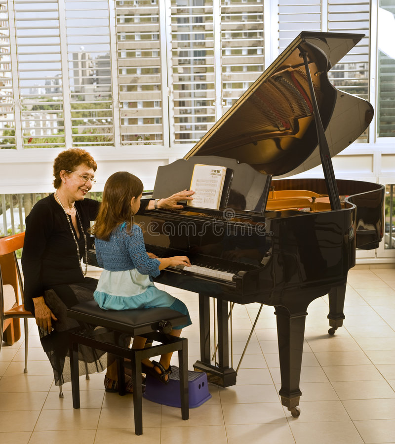Download The piano teacher stock photo. Image of lesson, happiness - 6582598