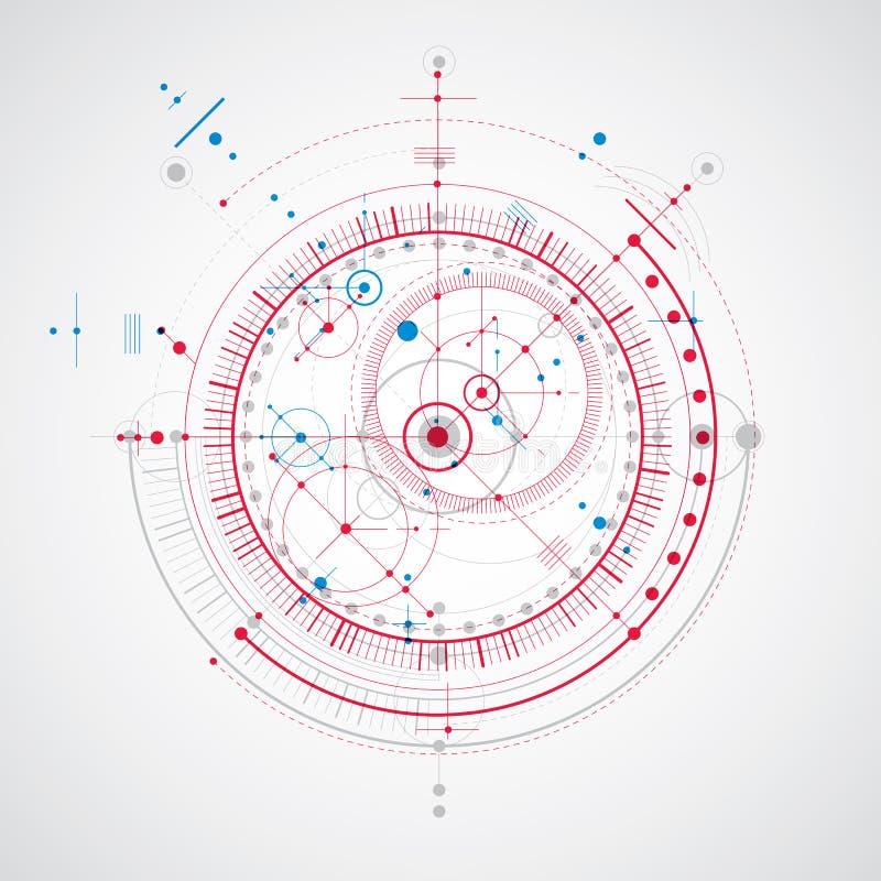 Piano tecnico, progetto astratto di ingegneria per uso in grafico illustrazione di stock