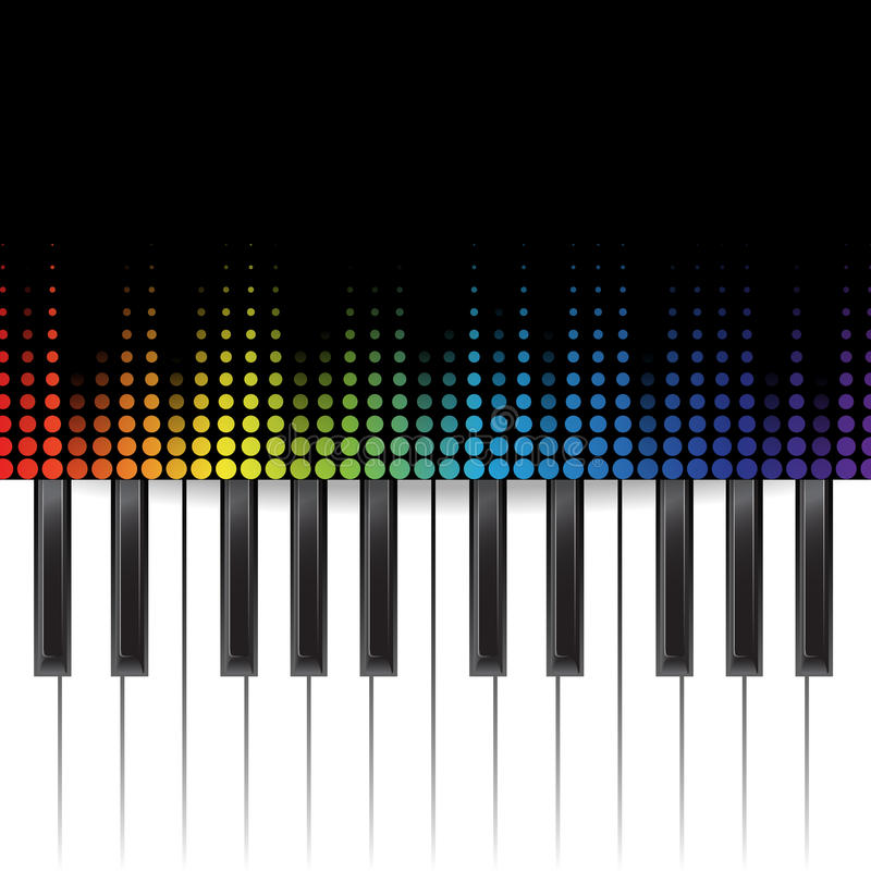 Piano template stock illustration