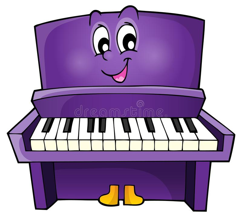 Piano theme image 1 stock illustration