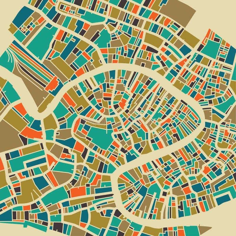 Piano variopinto della città di Venezia royalty illustrazione gratis
