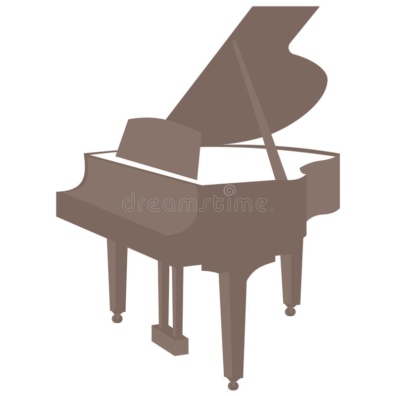 Piano vector icon on white background stock photography